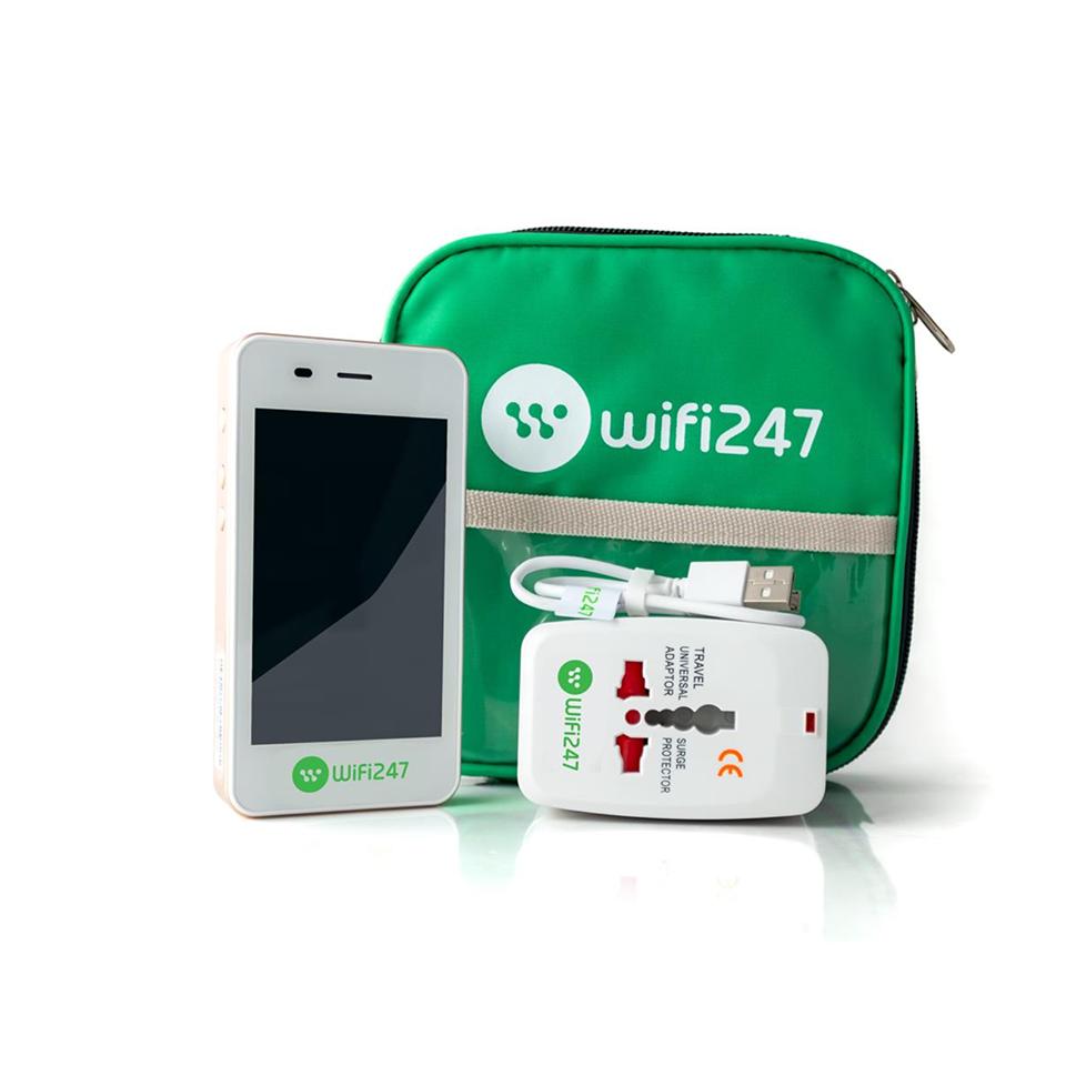 Bộ thiết bị cho thuê cục phát wifi ở Mỹ của Wifi247