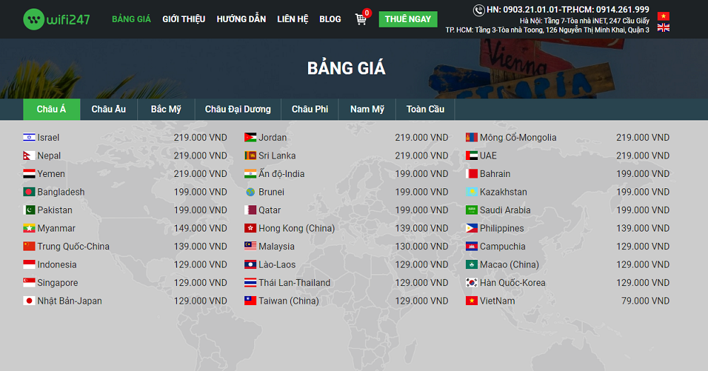 giá thuê Wifi đi Indonesia