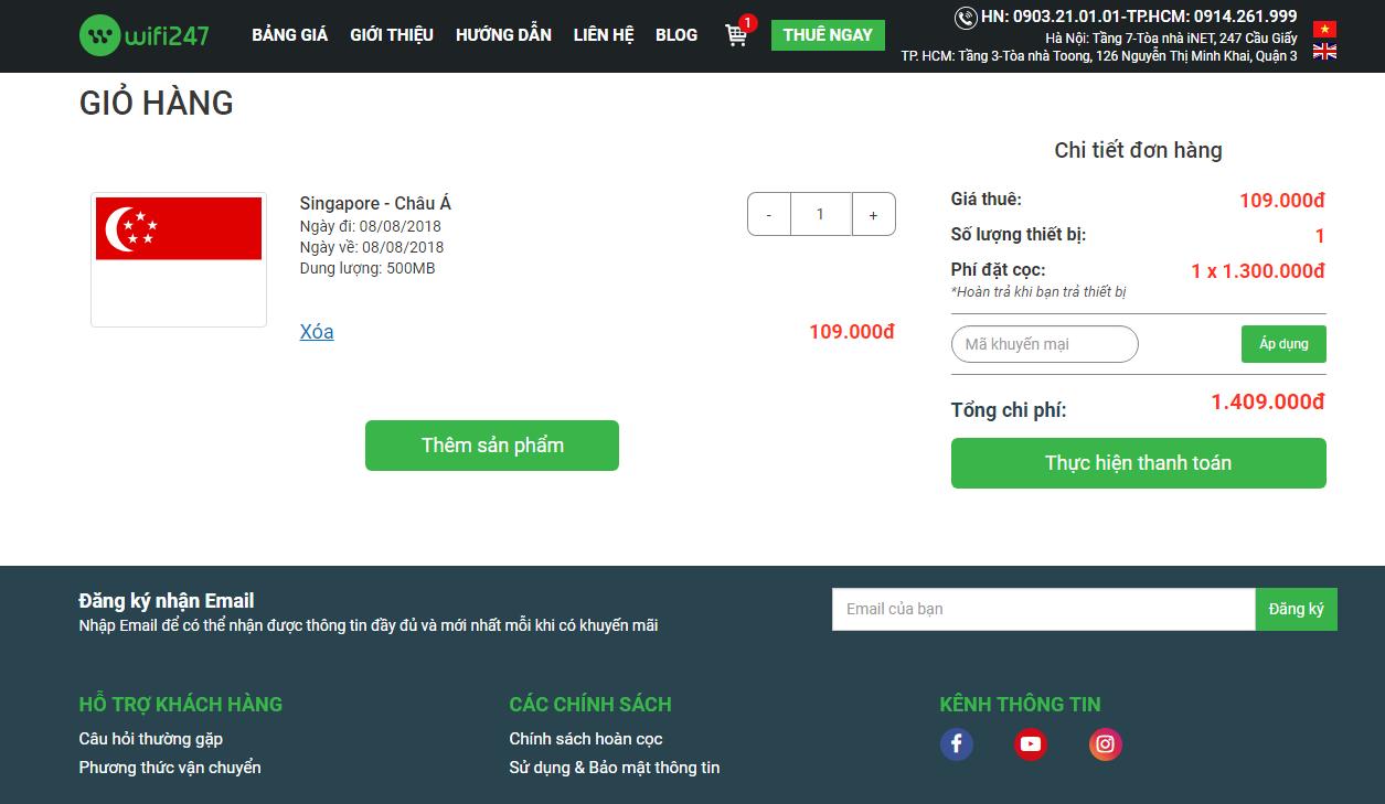 Cách thuê cục phát wifi đi Singapore 2